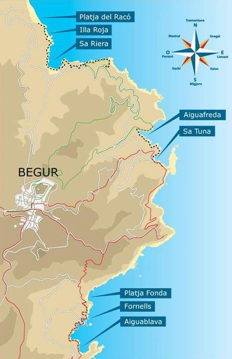 Plages et criques de begur au c ur de la costa brava hotel aigua blava - Aiguablava piscina natural ...